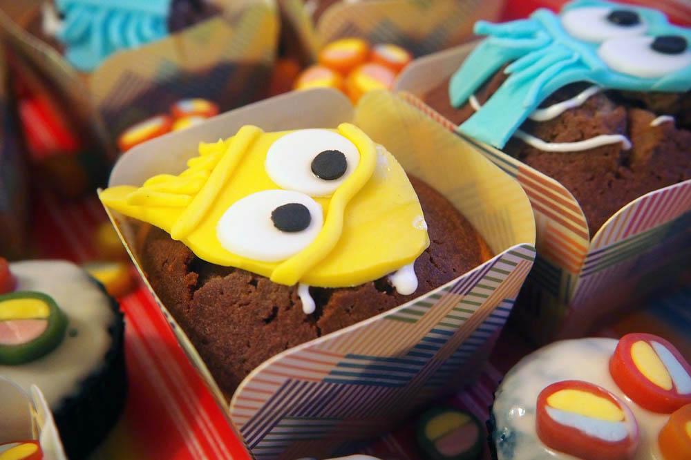 ¡Cupcakes infaltables en fiestas temáticas!